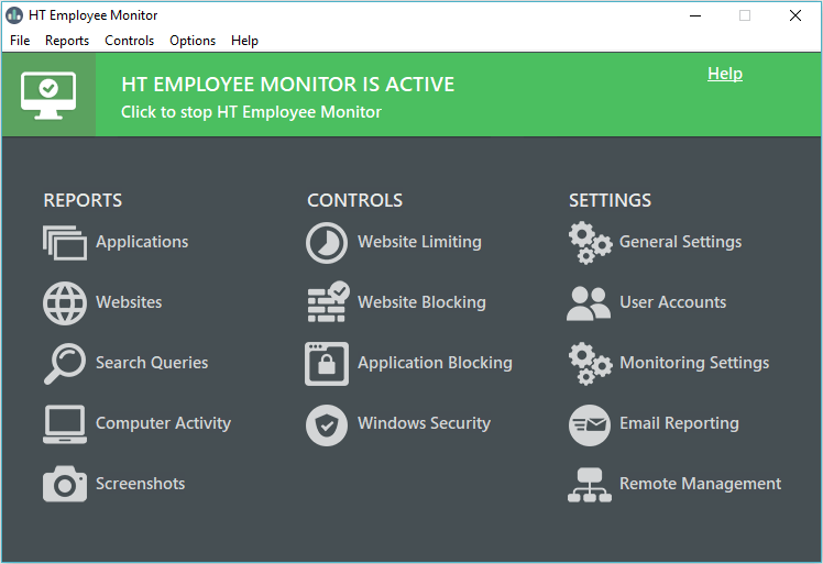 Click to view HT Employee Monitor screenshots