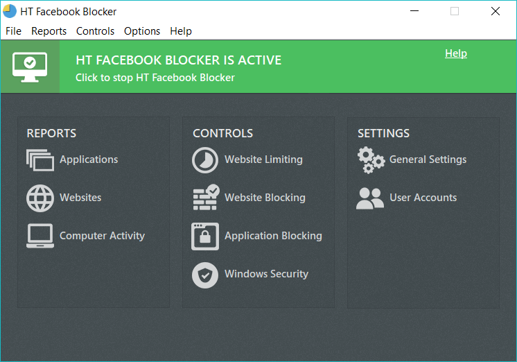 HT Facebook Blocker Screenshot