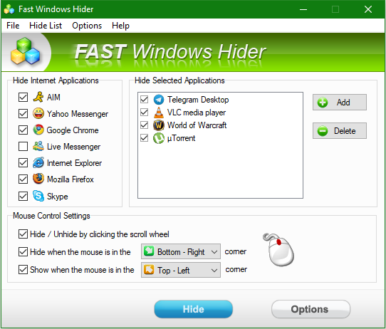 Fast Windows Hider