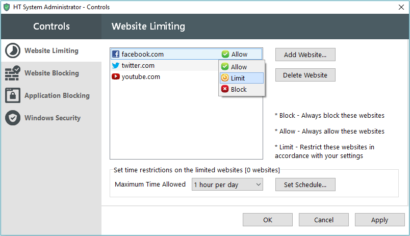Website Limiting - HT Sys Admin